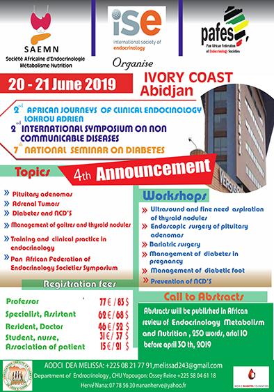 2èmes JAECL 2019 – Journees Africaines d'Endocrinologie