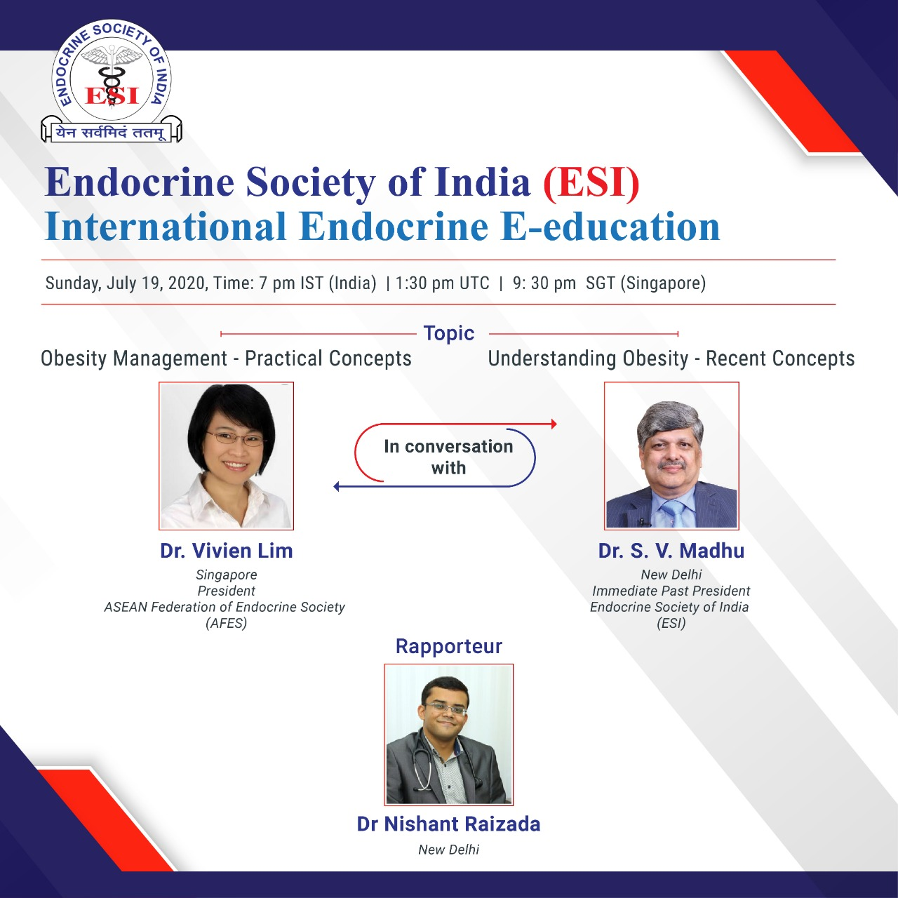 Series of Webinars from the Endocrine Society of India