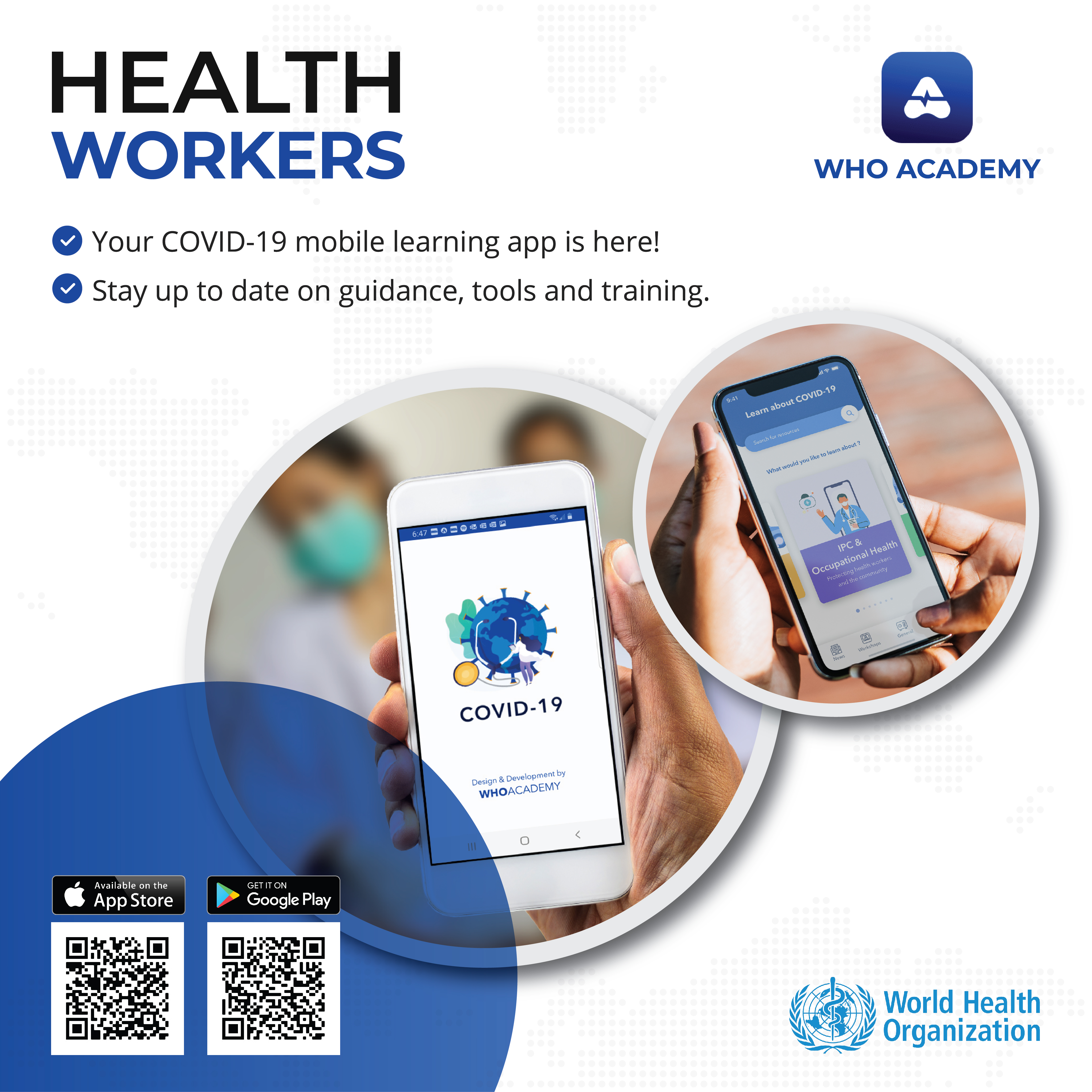 World Health Organization launches the new WHO Academy app