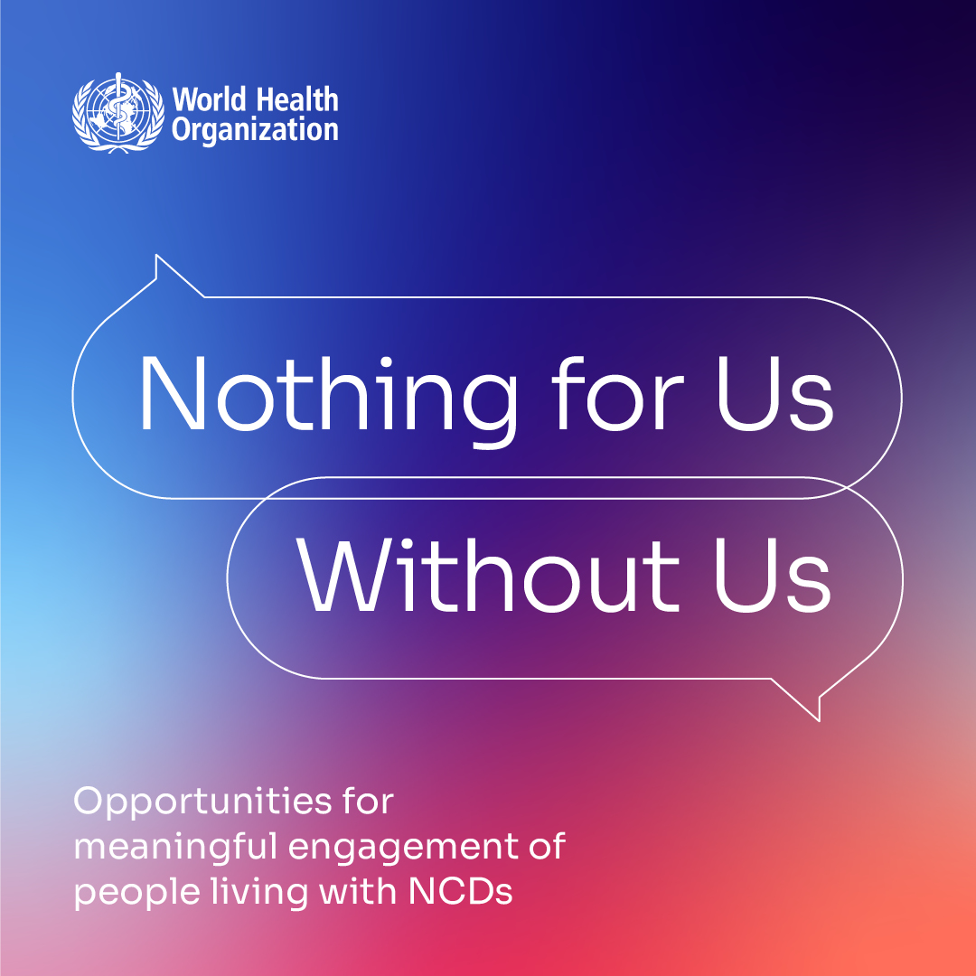 WHO report from the Informal Consultation on People Living with NCDs